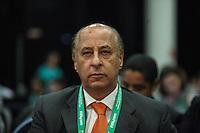 ATENCAIO EDITOR FOTO EMBARGADA PARA VEICULO INTERNACIONAL - SAO PAULO, SP, 28 DE NOVEMBRO 2012 - COLETIVA FIFA - Presidente da Federacao Paulista de Futebol Marco Polo d Nero durante coletiva da FIFA edo Comitê Organizador da Copa do Mundo (COL) na tarde desta quarta-feira, 28 na regiao norte da capital paulista. FOTO: VANESSA CARVALHO BRAZIL PHOTO PRESS.