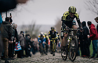 Robert Stannard (AUS/Mitchelton-Scott) up the Oude Kwaremont<br /> <br /> 71th Kuurne-Brussel-Kuurne 2019 <br /> Kuurne to Kuurne (BEL): 201km<br /> <br /> ©kramon