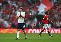 Tottenham Hotspur's Harry Kane applauds the fans at the end of the game<br /> <br /> Photographer Rob Newell/CameraSport<br /> <br /> Emirates FA Cup - Emirates FA Cup Semi Final - Manchester United v Tottenham Hotspur - Saturday 21st April 2018 - Wembley Stadium - London<br />  <br /> World Copyright &copy; 2018 CameraSport. All rights reserved. 43 Linden Ave. Countesthorpe. Leicester. England. LE8 5PG - Tel: +44 (0) 116 277 4147 - admin@camerasport.com - www.camerasport.com