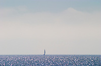 Sailing boat at sea outside Bandol Cote d'Azur Var France