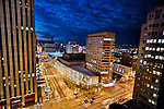 Schuster Center of Performing Arts, Downtown Dayton Ohio. 10th Anniversary photo. Dusk