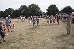 Children's running race, Butley Flower Show village fete, Butley, Suffolk, England