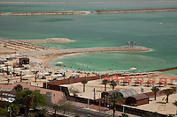 The Dead Sea is the lowest spot on earth, 1290 feet below sea-level.  Measuring 48 miles x 11 miles the salts content is 30%.