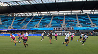 San Jose, CA - Tuesday June 11, 2019: Earthquakes players warm up before the  US Open Cup match between the San Jose Earthquakes and Sacramento Republic FC at Avaya Stadium.