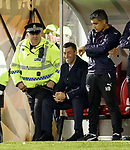 Pedro Caixinha cracking jokes with the polis