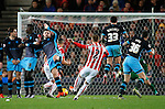 Phil Bardsley of Stoke City scores the second goal - Capital One Cup Quarter-Final - Stoke City vs Sheffield Wednesday - Britannia Stadium - Stoke - England - 1st December 2015 - Picture Simon Bellis/Sportimage