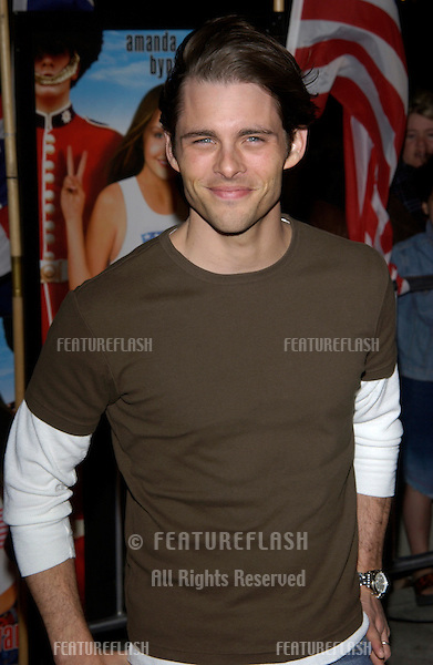 Actor JAMES MARSDEN at the Los Angeles premiere of What A Girl Wants..March 27, 2003