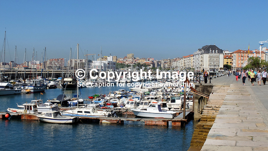 Seafront, marina, Santander, Spain, May, 2015, 201505070815<br />