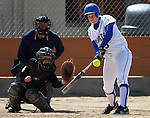 Western Nevada College's Tori Crowell during an at-bat against Colorado Northwestern Community College on Friday, April 6, 2012, in Carson City, Nev. The Wildcats won 5-0 and 8-0..Photo by Cathleen Allison