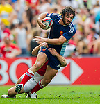 France play England in the Bowl Quarter Final on Day 3 of the Cathay Pacific / HSBC Hong Kong Sevens 2013 on 24 March 2013 at Hong Kong Stadium, Hong Kong. Photo by Xaume Olleros / The Power of Sport Images