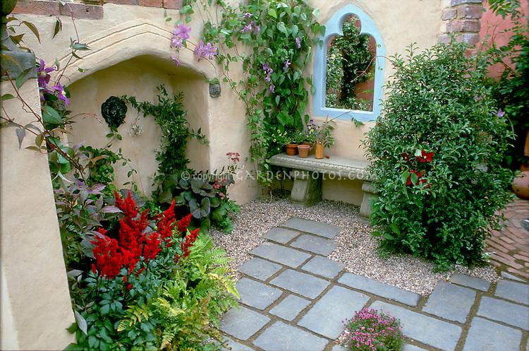 Courtyard outdoor room garden design plant flower for 10 plants for courtyard gardens design