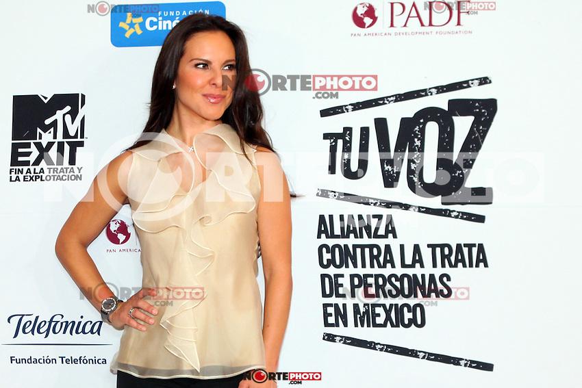 Mexico,DF.- La actriz mexicana Kate del Castillo, vocera de la Comisi&oacute;n Nacional de Derechos Humanos (CNDH), durante la presentaci&oacute;n del documental 'Esclavos Invisibles', en el cual se  busca concienciar y prevenir la trata y explotaci&oacute;n de personas en Latinoam&eacute;rica, Kate del Castillo se une a la fundacion MTV EXIT como lo hizo Calle 13 a finales del a&ntilde;o pasado, para acabar con este grave problema..Foto: Jose Hernandez/ zenitimages /NortePhoto.com<br /> <br /> **CREDITO*OBLIGATORIO** *No*Venta*A*Terceros*<br /> *No*Sale*So*third* ***No*Se*Permite*Hacer Archivo***No*Sale*So*third*