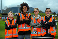 Event staff at the Jack Hobbs Memorial Under-19 Rugby Tournament at Owen Delaney Park in Taupo, New Zealand on Thursday, 15 September 2016. Photo: Dave Lintott / lintottphoto.co.nz