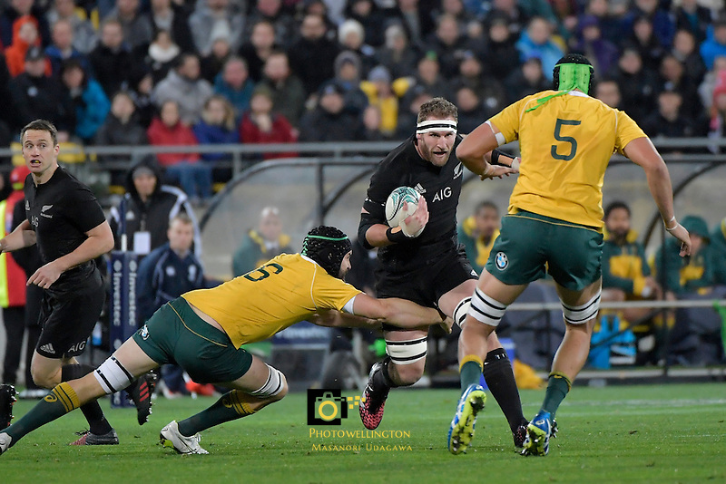 All Blacks' Kieran Read in action during the All Blacks v Wallabies. The Rugby Championship & Bledisloe Cup at Westpac Stadium, Wellington, New Zealand on Saturday 27 August 2016.<br /> Photo by Masanori Udagawa. <br /> www.photowellington.photoshelter.com.