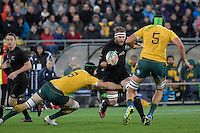 All Blacks' Kieran Read in action during the All Blacks v Wallabies. The Rugby Championship &amp; Bledisloe Cup at Westpac Stadium, Wellington, New Zealand on Saturday 27 August 2016.<br /> Photo by Masanori Udagawa. <br /> www.photowellington.photoshelter.com.