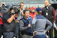 Bernd Wiesberger (AUT) interviewed by Shane O'Donohue during the final round of the Made in Denmark presented by Freja, played at Himmerland Golf & Spa Resort, Aalborg, Denmark. 26/05/2019<br /> Picture: Golffile   Phil Inglis<br /> <br /> <br /> All photo usage must carry mandatory copyright credit (© Golffile   Phil Inglis)