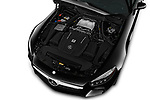 Car Stock 2016 Mercedes Benz AMG-GT AMG-GT-S 3 Door Coupe Engine  high angle detail view