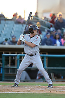 Auston Bousfield (26) of the Lake Elsinore Storm bats during a game against the Lancaster JetHawks at The Hanger on May 9, 2015 in Lancaster, California. Lancaster defeated Lake Elsinore, 3-1. (Larry Goren/Four Seam Images)