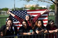 Frisco, TX - April 6, 2017: The U.S. Women's national team go up versus Russia in an international friendly match at Toyota stadium.