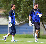 Rival keepers Neil Alexander and Allan McGregor