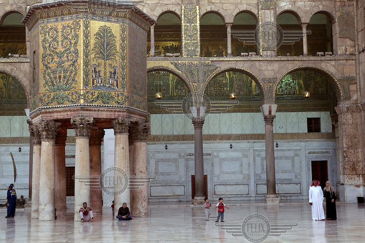 The treasury building at Omayyad Mosque.