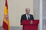 Spanish writer Juan Goytisolo gives a speech during the National Culture Awards ceremony at El Pardo Palace in Madrid, Spain. February 16, 2015. (ALTERPHOTOS/Victor Blanco)