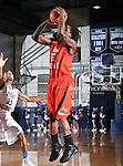 Sam Houston State Bearkats guard Nafis Richardson (22) shoots a jump shot during the game between the UTA Mavericks and the Sam Houston State Bearkats held at the University of Texas at Arlington's, Texas Hall, in Arlington, Texas. Sam Houston defeats UTA 78 to 74