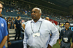 KANSAS CITY, KS - SEPTEMBER 20: Kansas City Chiefs legend and NFL Hall of Fame Willie Lanier on the sideline before the game. Sporting Kansas City hosted the New York Red Bulls on September 20, 2017 at Children's Mercy Park in Kansas City, KS in the 2017 Lamar Hunt U.S. Open Cup Final. Sporting Kansas City won the match 2-1.