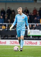 5th January 2020; Pirelli Stadium, Burton Upon Trent, Staffordshire, England; English FA Cup Football, Burton Albion versus Northampton Town; Northampton Town Goalkeeper David Cornell with the ball at his feet  - Strictly Editorial Use Only. No use with unauthorized audio, video, data, fixture lists, club/league logos or 'live' services. Online in-match use limited to 120 images, no video emulation. No use in betting, games or single club/league/player publications