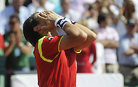 16.09.2012 Gijon, Spain Semifinals Copa Davis Esp vs USA. David Ferrer vs John Isner. Picture show David Ferrer  during match.