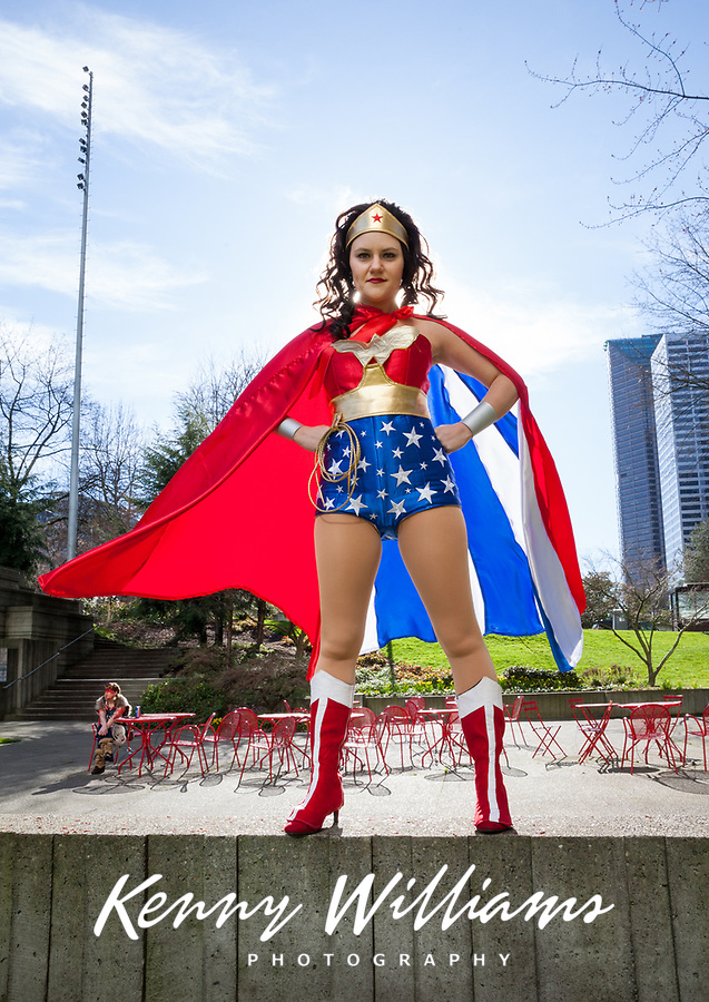 Wonder Woman Cosplay, Emerald City Comicon 2018, Seattle, WA, USA.