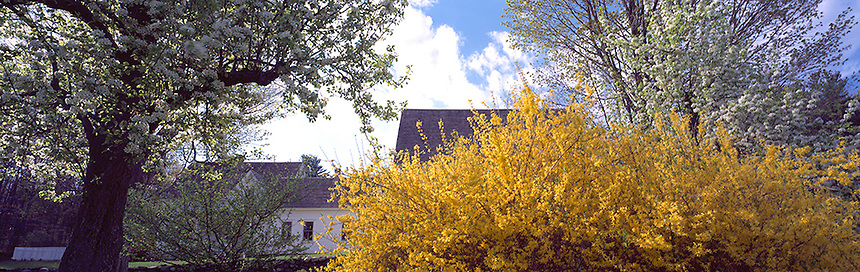 A spring day at the historic Robert Frost farm, Derry, New Hampshire. Photograph by Peter E, Randall