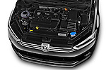 Car Stock 2014 Volkswagen GOLF SPORTSVAN Highline 5 Door Mini MPV 2WD Engine high angle detail view