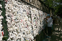 WISH RIBBONS AT THE VIRGIN MARYS HOUSE, EPHESUS, TURKEY