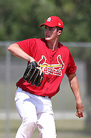 St. Louis Cardinals minor league pitcher Sean Watson #51 delivers a pitch during a spring training game vs the New York Mets at the Roger Dean Sports Complex in Jupiter, Florida;  March 24, 2011.  Photo By Mike Janes/Four Seam Images