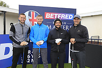 Alexander Levy (FRA) and team during the Hero Pro-am at the Betfred British Masters, Hillside Golf Club, Lancashire, England. 08/05/2019.<br /> Picture Fran Caffrey / Golffile.ie<br /> <br /> All photo usage must carry mandatory copyright credit (&copy; Golffile | Fran Caffrey)