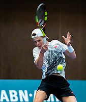 Alphen aan den Rijn, The Netherlands, 25 Januari 2019, ABNAMRO World Tennis Tournament, Supermatch, Final,  Jesper de Jong  (NED)<br /> Photo: www.tennisimages.com/Henk Koster