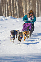 Musher Todd, Schallock, 2007 Limited North American Championship Sled dog race in Fairbanks, Alaska.