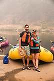 USA, Oregon, Wild and Scenic Rogue River in the Medford District, portrait of a rafting couple at Grave Creek