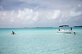 EXUMA, Bahamas. Enjoying the waters off Compass Cay.