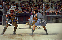 Gladiator (2000)<br /> Russell Crowe &amp; Sven-Ole Thorsen<br /> *Filmstill - Editorial Use Only*<br /> CAP/KFS<br /> Image supplied by Capital Pictures