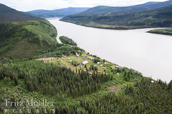 Moosehide settlement near Dawson City, Yukon