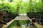 Wooden bathtub at Higuchi Ryokan in Arifuku Onsen. Shimane. Japan.<br /> <br /> Baignoire en bois au Higuchi Ryokan &agrave; Arifuku Onsen. Shimane. Japon.