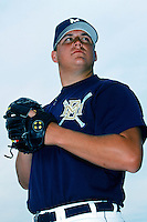 Nick Neugebauer of the Milwaukee Brewers poses before a 1999 Major League Baseball Spring Training game in Phoenix, Arizona. (Larry Goren/Four Seam Images)