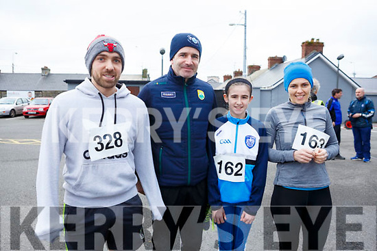Danny O'Sullivan, Kelly, Mark and Ciara Fitzgerald   attending the Kerins O'Rahilly's 10k Run/Walk in honour of local running legendJohn Griffin on Sunday morning last.