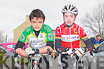 CYCLE: Taking part in the junior John Drumm Cup cycle race in Currow on Sunday l-r: Eoin Blake (Kilorglin CC) and Billy Casey (Tralee CC).