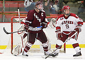Brian Day (Colgate - 12), Danny Biega (Harvard - 9) - The Harvard University Crimson defeated the visiting Colgate University Raiders 6-2 (2 EN) on Friday, January 28, 2011, at Bright Hockey Center in Cambridge, Massachusetts.