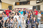 BIRTHDAY: Helping Philip Martin seated centre Hawley Park, Tralee to celebrate his 21st Birthday was his Mother Regina hennessy and his Girlfrien Sarah Maloney and family and friends in O'Dowdie's Bar, Tralee on Friday night.....