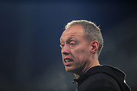 Steve Cooper Head Coach of Swansea City shouts instructions to his team from the dug-out during the Sky Bet Championship match between Huddersfield Town and Swansea City at The John Smith's Stadium in Huddersfield, England, UK. Tuesday 26 November 2019
