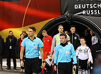 Mannschaften laufen ein - 15.11.2018: Deutschland vs. Russland, Red Bull Arena Leipzig, Freundschaftsspiel DISCLAIMER: DFB regulations prohibit any use of photographs as image sequences and/or quasi-video.